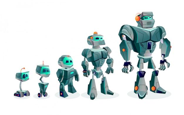 Evolução de robôs, progresso tecnológico