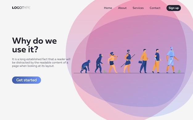 Evolução humana de macaco para ciborgue