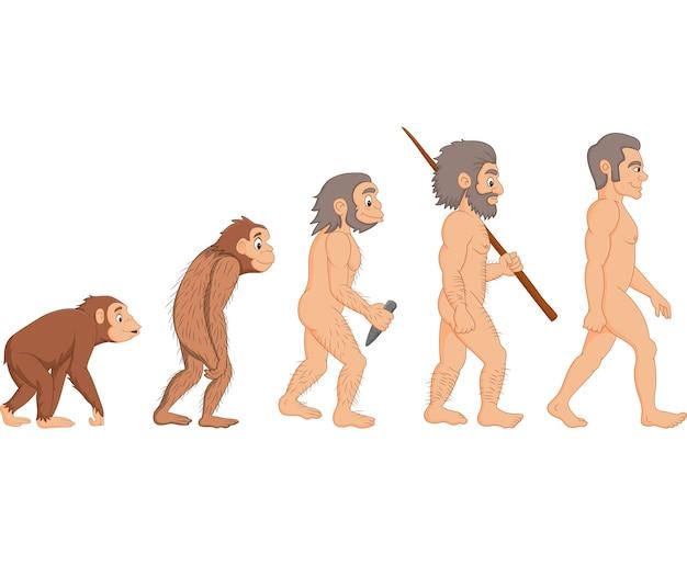 Evolução humana dos desenhos animados