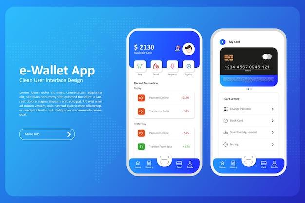 Ewallet user interface design premium vector