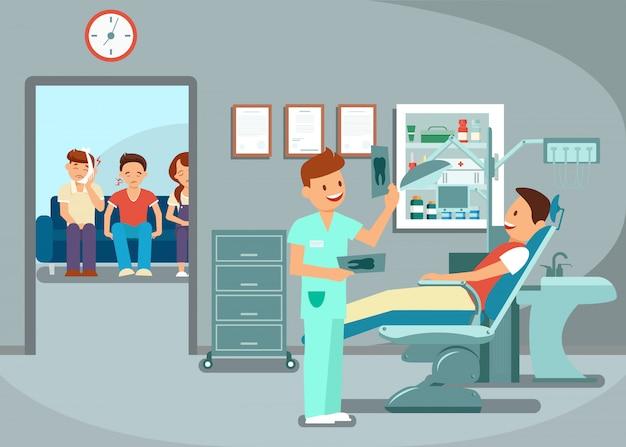 Exame de dentes