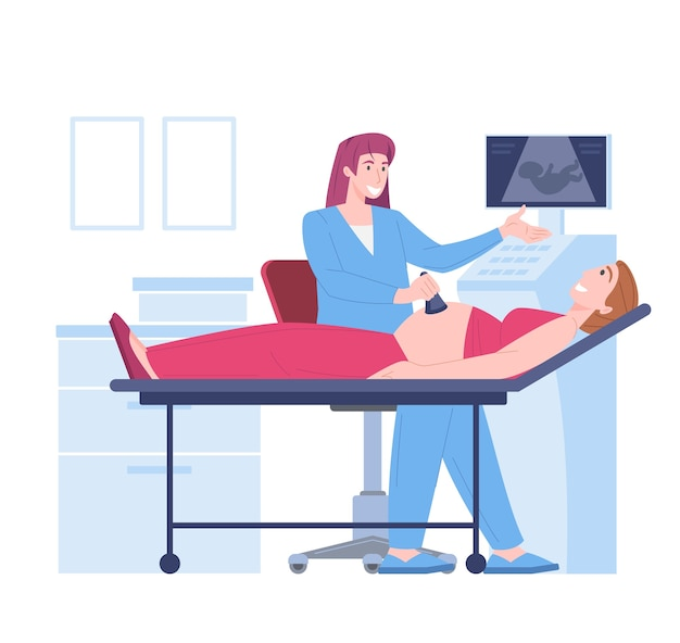 Exame de ultrassom de embrião na gravidez