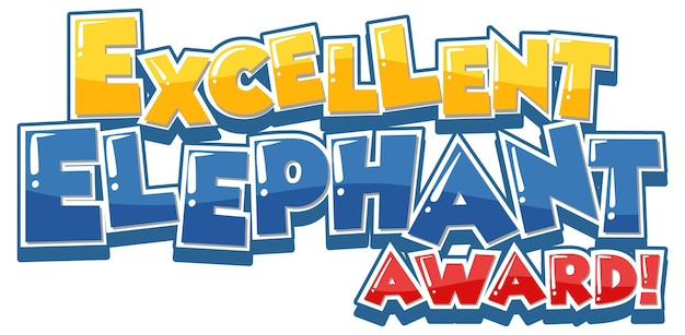 Excelente banner de fonte do elephant award