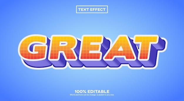Excelente efeito de texto de trabalho