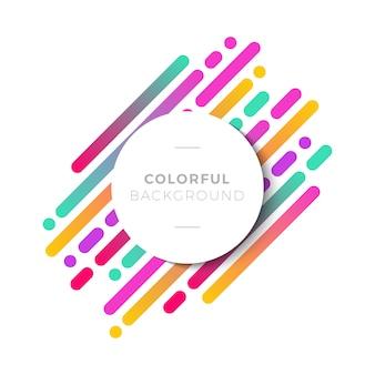 Excelente fundo com formas coloridas