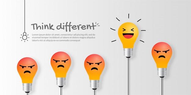Excelente lâmpada emocional, pense no conceito de negócio diferente