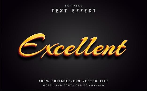 Excelente texto, efeito de texto estilo ouro