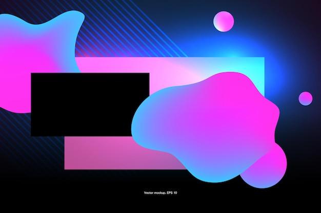 Excesso de modelo abstrato de cor rosa e azul para ilustração vetorial de materiais de aplicação e web