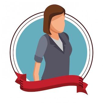 Exectuive empresária avatar rodada ícone