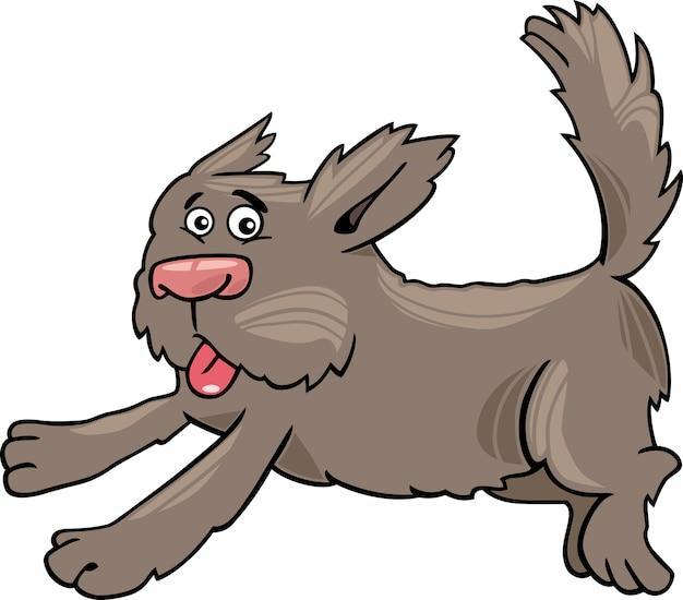 Executando ilustração de desenho animado de cachorro