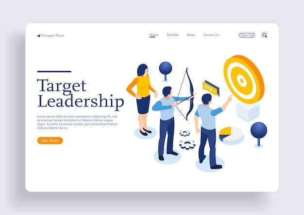 Executando pessoas direcionadas para frente liderança escalando seu caminho de ação de trabalho com personagens