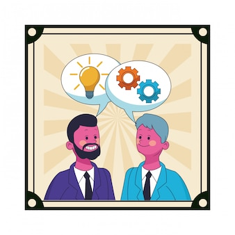 Executivos de negócios coworkers
