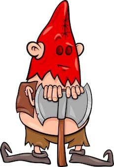 Executor com ilustração dos desenhos animados do machado