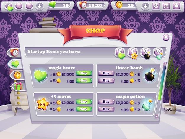 Exemplo de vitrine de um jogo de computador