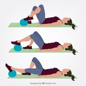 Exercício de fisioterapia
