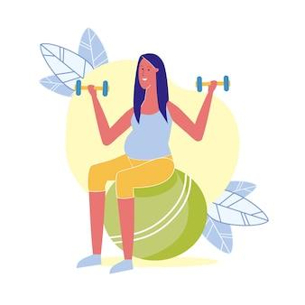 Exercício de fitness para ilustração grávida