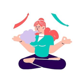 Exercício de respiração para um bom relaxamento.
