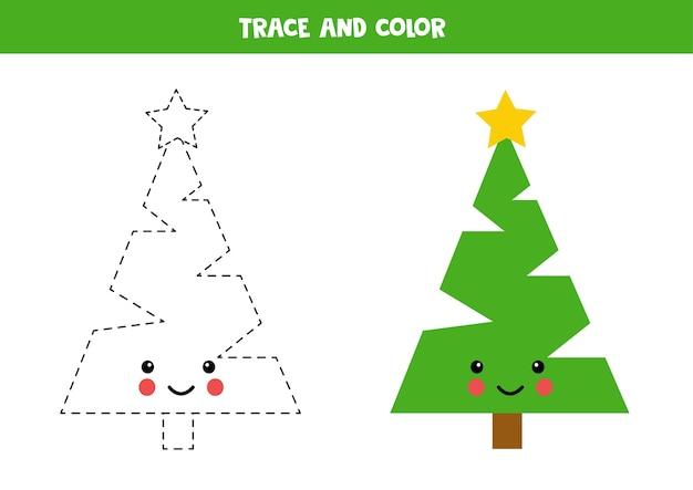 Exercício de traçar e colorir
