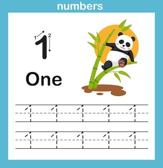 Exercício numérico com ilustração de desenho animado