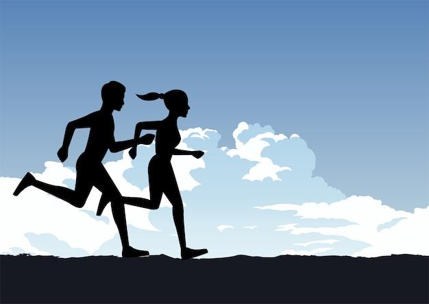 Exercite-se em casal correndo para ser saudável