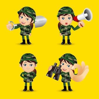 Exército de profissão definida de pessoas