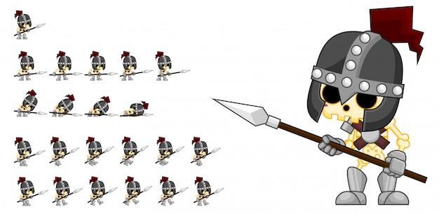 Exército esqueleto jogo sprite