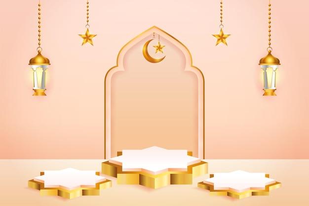 Exibição de produto 3d com tema islâmico