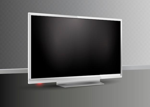 Exibição do monitor branco. televisão.