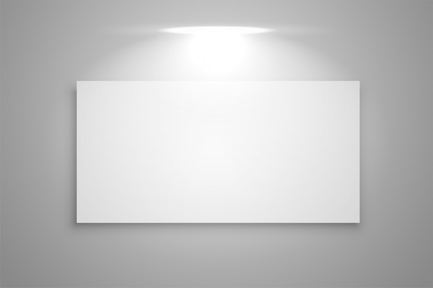 Exibir quadro de galeria com foco de luz de fundo