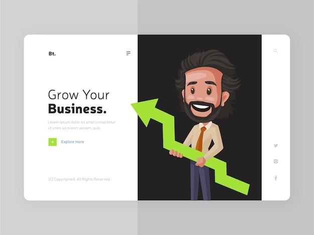 Expanda o modelo da página de destino da sua empresa