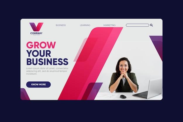 Expanda sua página de destino de negócios