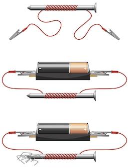 Experiência científica de circuitos