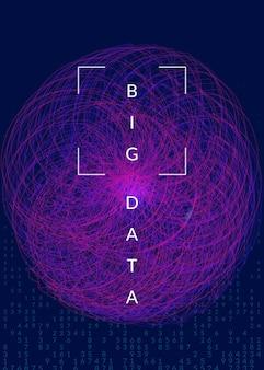 Experiência de aprendizagem profunda. tecnologia para big data, visualização, inteligência artificial e computação quântica. modelo de design para o conceito de rede. pano de fundo abstrato de aprendizagem profunda.