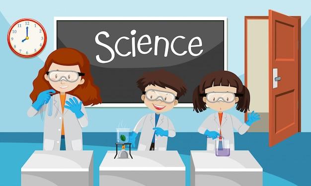 Experiência de estudante na aula de química