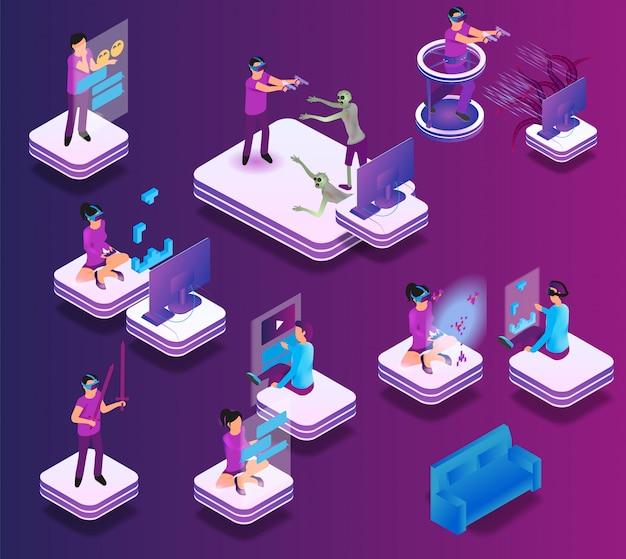 Experiência de jogos isométricos em realidade virtual