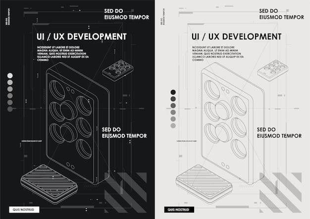 Experiência do usuário, interface do usuário em e-commerce. web design e modelo móvel.