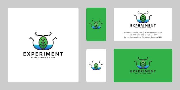 Experiência em vetor de design de logotipo de laboratório da natureza