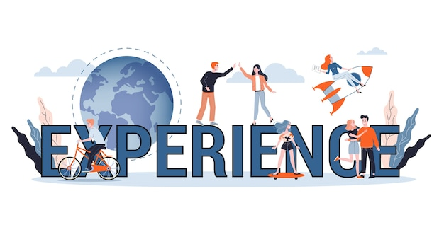 Experimente o conceito de banner da web. ideia de negócio