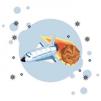 Exploração espacial e planetas dos desenhos animados