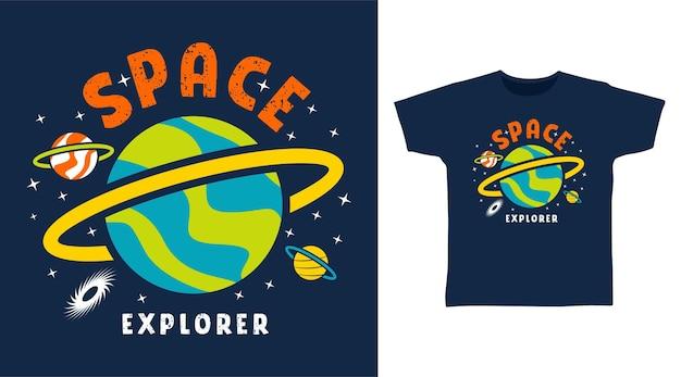 Explorador do espaço para design de camisetas
