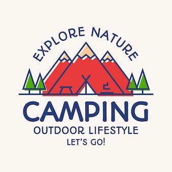 Explore a natureza, emblema de acampamento