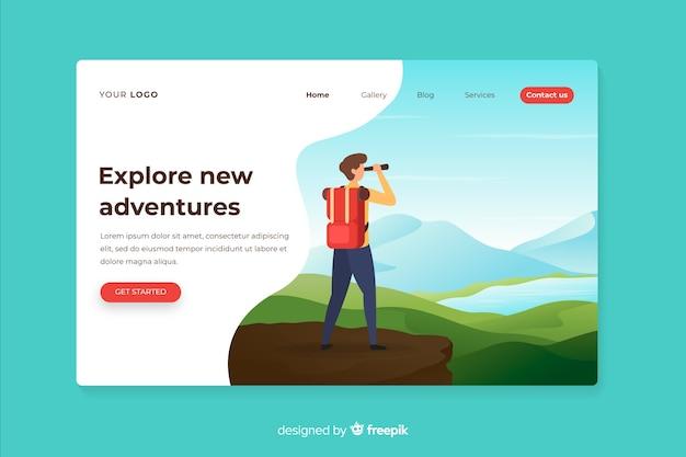Explore a nova página de destino das aventuras