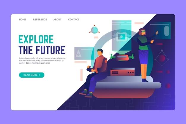 Explore a página de destino do seo futuro
