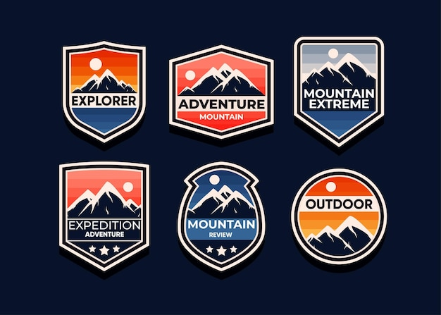 Explore o conjunto de símbolos da aventura na montanha