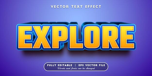 Explore o efeito de texto com estilo de texto editável