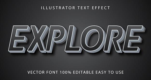 Explore o efeito de texto editável