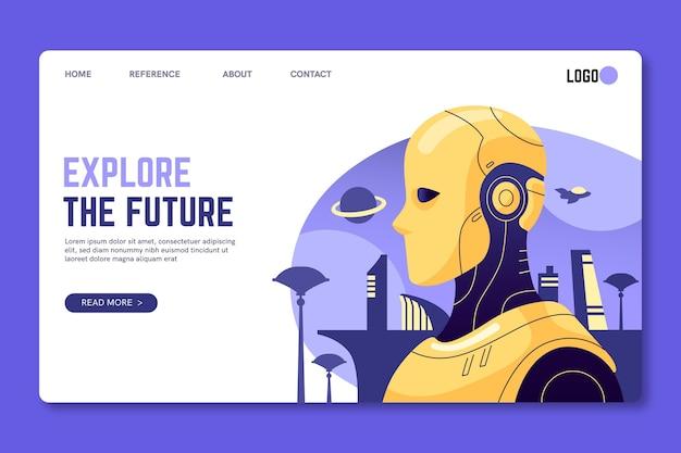 Explore o futuro modelo de página de destino de seo