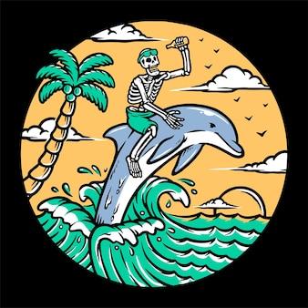 Explore o oceano com golfinhos