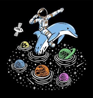 Explore o oceano do universo com golfinhos