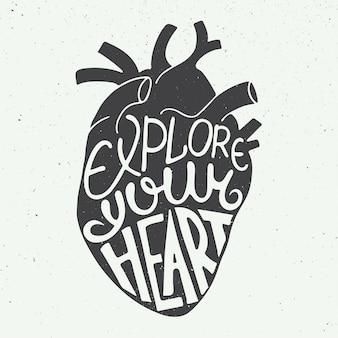 Explore seu coração no coração anatômico